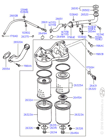 Замена ремня грм на санта фе 2.7 схема