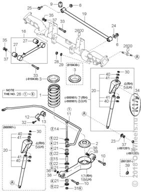 Механизм задней подвески