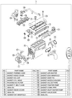 Короткоходный двигатель и комплект прокладок