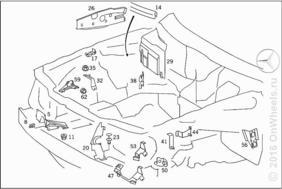 ENGINE COMPARTMENT PARTITION PANEL, WHEELHOUSE ATTACHMENT PARTS