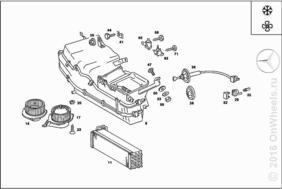 EVAPORATOR CASE USED W/AIR CONDITIONER