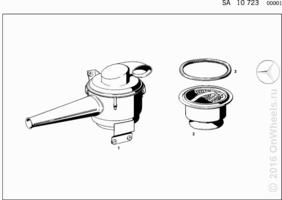 OIL BATH AIR CLEANER FOR EXPORT VEHICLES