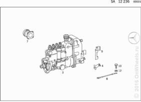 INJECTION PUMP W/RSV GOVERNOR, ENGINE ATTACHMENT PARTS