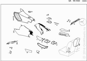 BODY PARTS USED WITH AUTOMATIC TRANSMISSION WITH FLOOR SHIFT