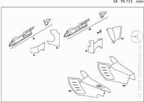 INTERIOR TRIM PARTS USED WITH AIR CONDITIONER
