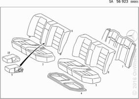 REAR SEAT FABRIC (FRONT SPORTS SEAT)
