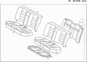 REAR SEAT,LEATHER (FRONT SPORTS SEAT)