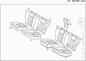 REAR SEAT FABRIC (UPGRADED TRIM)