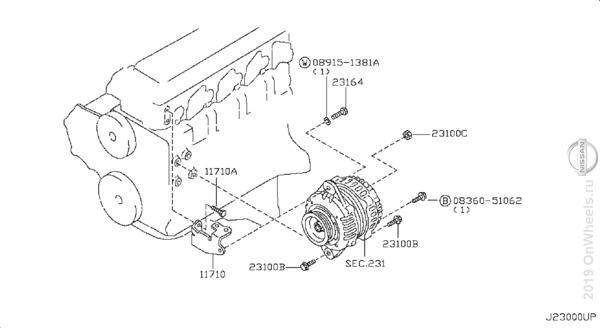 Схема тормозной системы ниссан террано