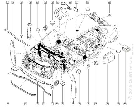 оригинальный каталог запчастей renault symbol